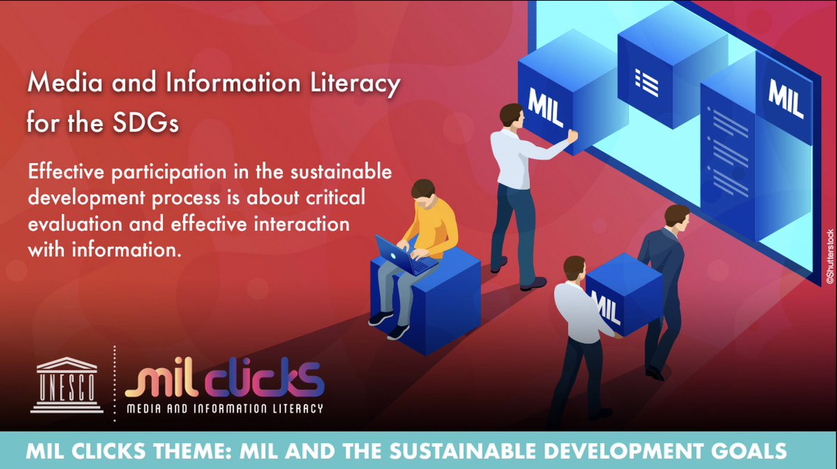 Imagine achieving the Sustainable Development Goals (SDGs) without data and Information. Quite impossible correct ? #MILCLICKS