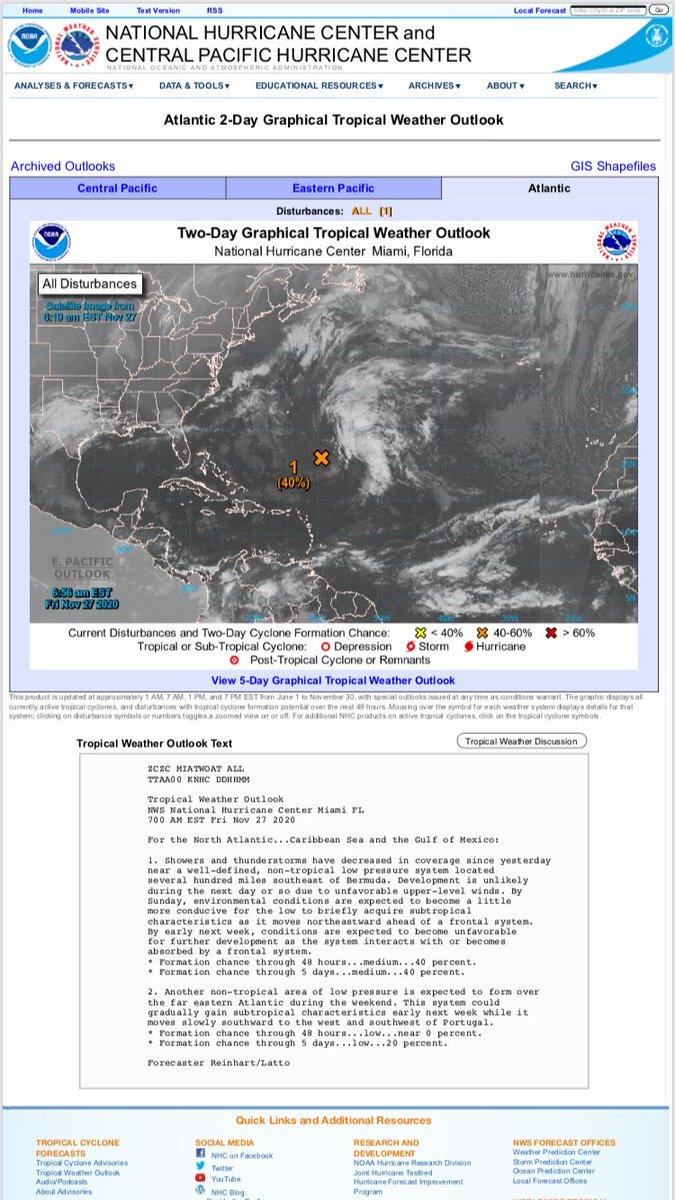 Heads Up: Potential Tropical Storm or Hurricane! •@NHC_Atlantic  •#NHC •#Hurricane •#TropicalStorm  •#Atlantic •#Bermuda  •#Portugal https://t.co/I3t7gQEYcs