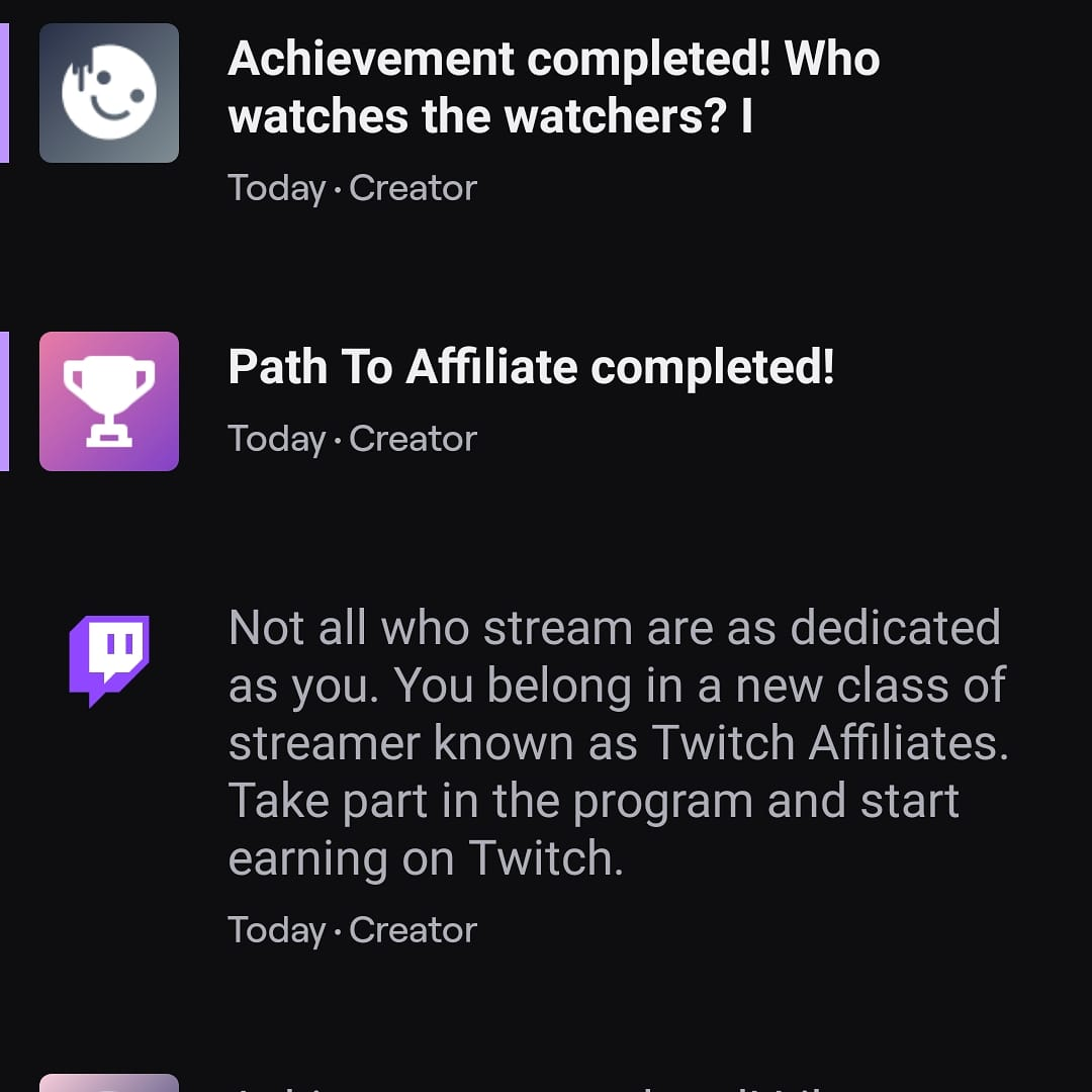 The grind was real. Affiliated! Thank you everyone @nerdyrabb1t #twitch #twitchstreamer #TwitchAffilate #game #gamer #grind #party #community #payout #cod #callofduty  #callofdutyblackopscoldwar #coldwar https://t.co/gGrYx3Rhi1