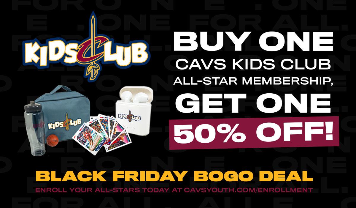 Don't miss out on this #CavsKidsClub #BlackFriday Sale! Go to https://t.co/6EYZN8GvIr to enroll, TODAY! https://t.co/Xk2HTCgHGi