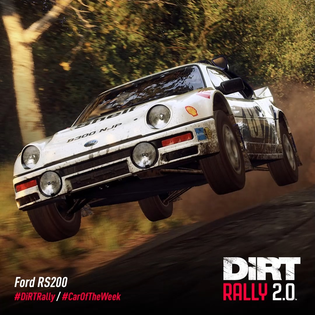 The Ford RS200 was a mid-engined all wheel drive machine designed for use in Group B rallying. 🚀  Sadly it didn't have an opportunity to shine on the world stage, but it certainly makes for a thrilling experience in #DiRTRally 2.0. 👨🏻🚀👩🏻🚀