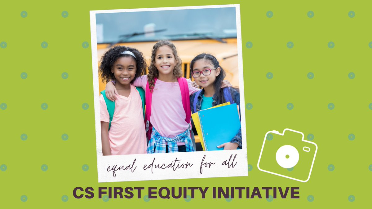 Picture this: equal education opportunities for all! The CS First Equity Initiative is working toward creating awesome learning experiences for kids all across the nation. Learn more today at . #GoogleEDU #GoogleCertified #EdTech #GrowWithGoogle