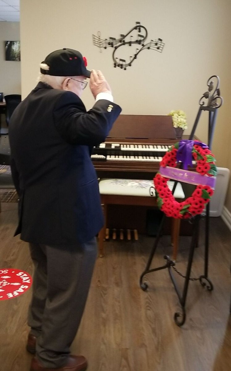 Sharing with you some photos from our #RemembranceDay event!  #veteransday #queensavenueretirement #seniorliving #oakville #seniorlife #RetirementHome #retirementlife