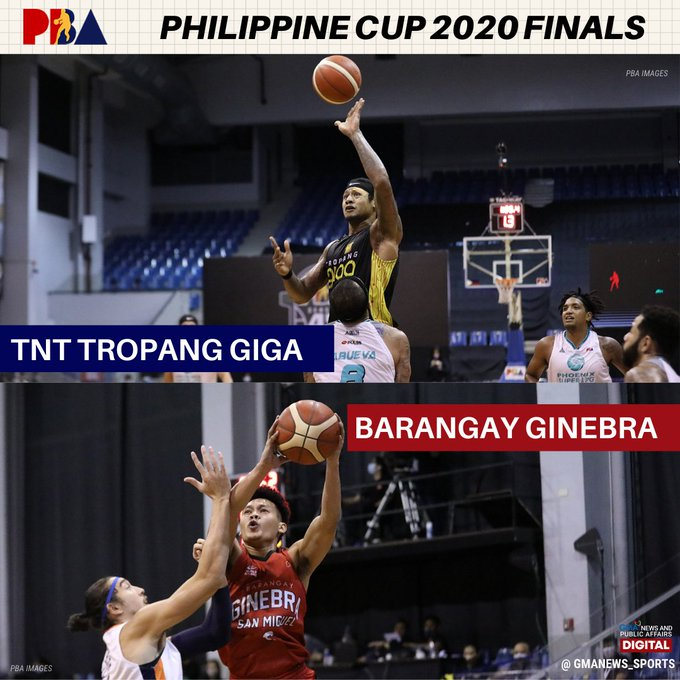 After a dramatic win, Ginebra will face TNT in a seven-game series to determine the champion of the All-Filipino conference! #PBA2020   READ: https://t.co/YR6uSF89VJ https://t.co/kpkzB23o4h