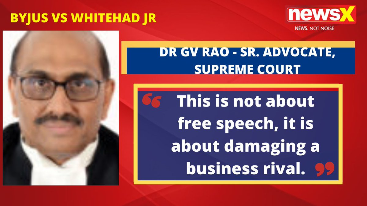 #DefamationWars | It is clearly defamatory. The product is being badly sold. This is not about free speech, it is about damaging a business rival. : Dr GV Rao - SR. Advocate, Supreme Court (@Dr_GVRAO) on #NewsX  @malhotravineet7