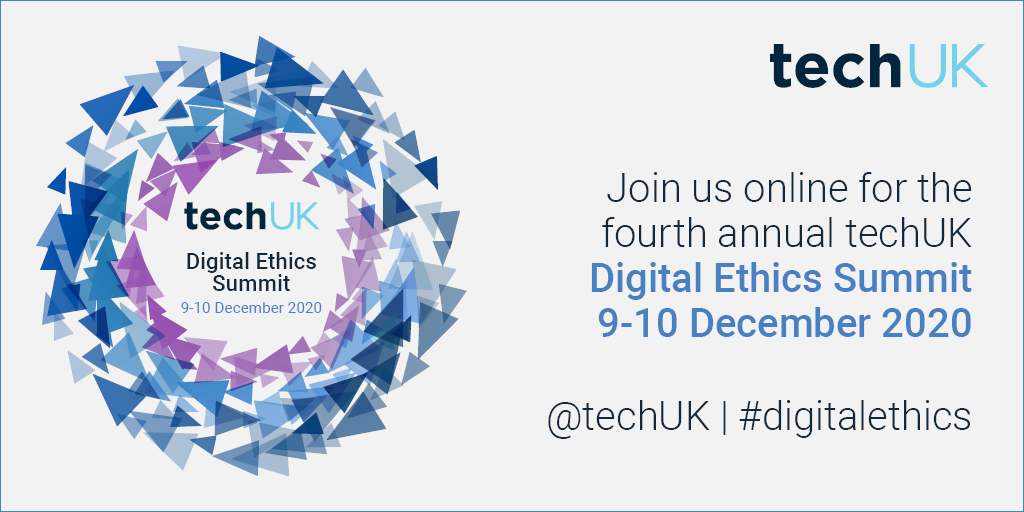 We're delighted to have @MSFTBusinessUK @Clifford_Chance @VisaNews and @SopraSteria_uk sponsoring the #DigitalEthics Summit 2020. We're looking forward to hearing their insights across the 9-10 December.   View the agenda and book your free place now https://t.co/FTKXA5VZsA https://t.co/bm6jmu0DKO