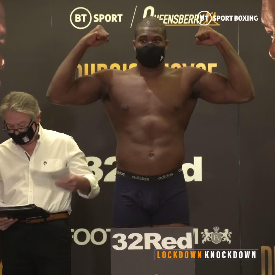 245lbs of pure Dynamite 🧨  @DynamiteDubois looks in unbelievable shape ahead of the biggest fight of his career against Joe Joyce 💪  #DuboisJoyce   Saturday, 7:30   BT Sport 1 HD