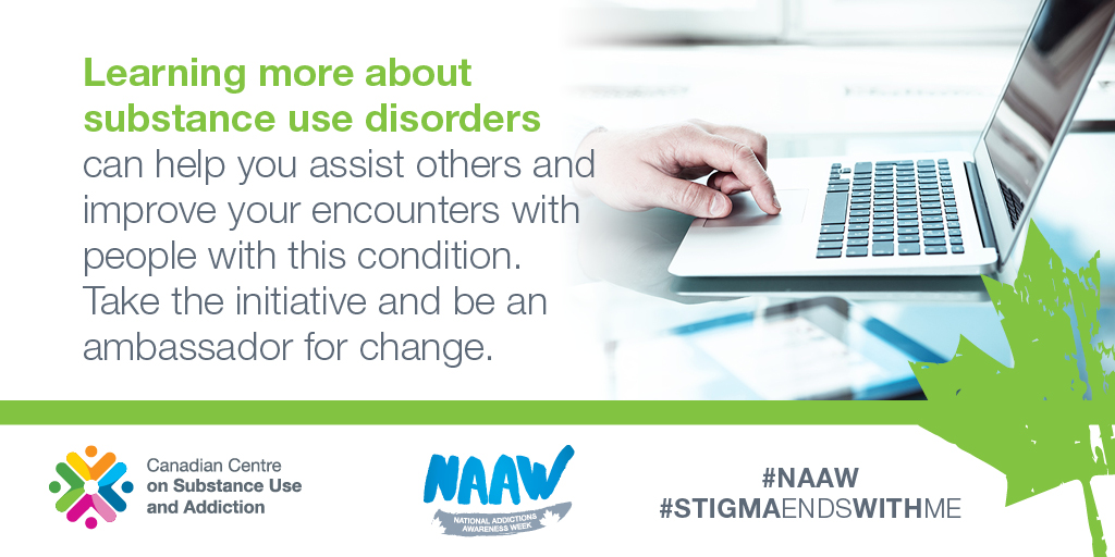 test Twitter Media - 83% of Canadians struggling with problematic #SubstanceUse face barriers to recovery. Stigma is a major barrier. For #NAAW, remember that #ChangeBeginsWithMe. Learn more at https://t.co/BtmQZP8LpG https://t.co/Q9GznCHjBy