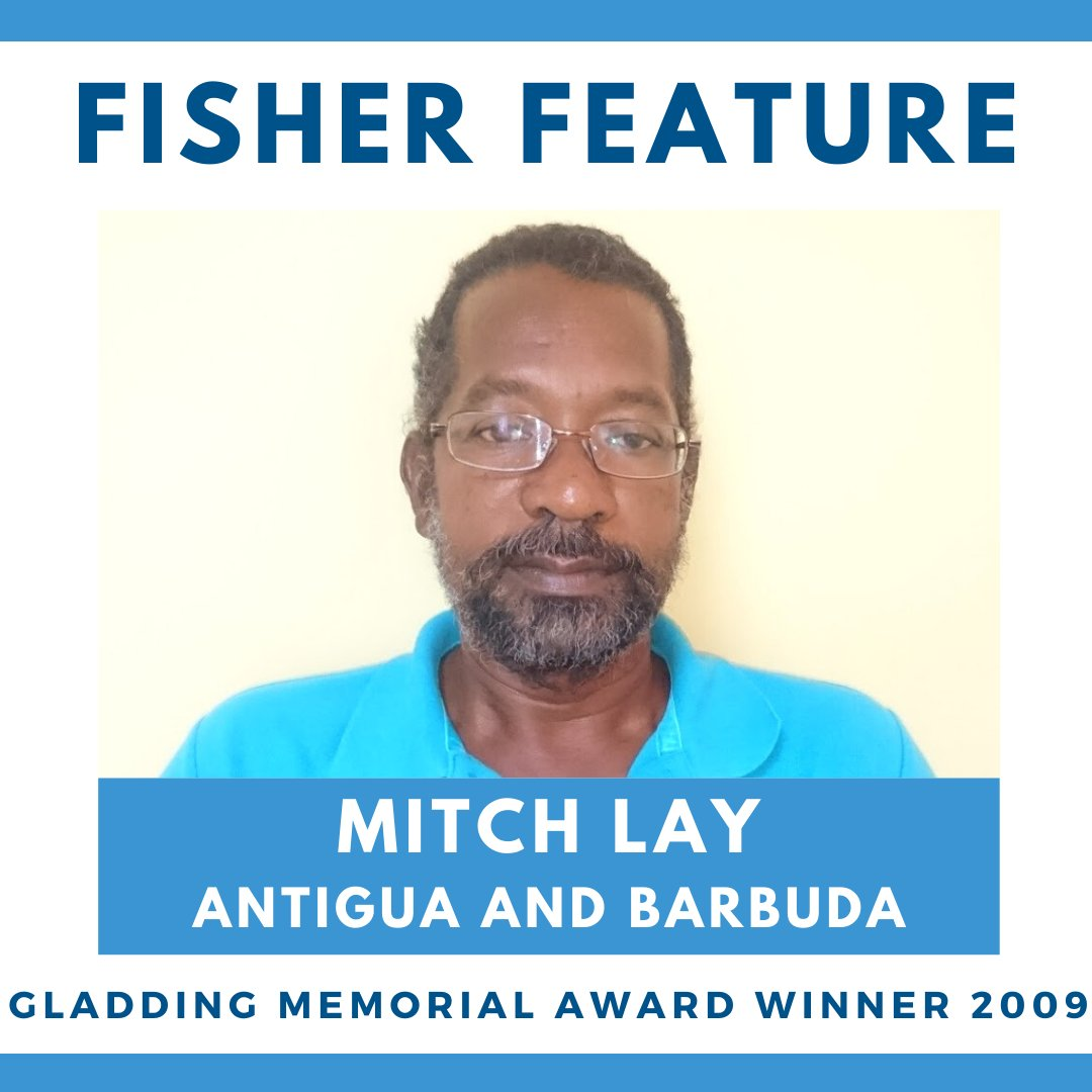 After #WorldFisheriesDay we feature winners of the Gladding Memorial Award which recognizes a #fisher who demonstrates a long-term #conservation ethic.   Our first #FisherFeature is Mitchell Lay from #Antigua & #Barbuda.  & the Coordinator of @THECNFO
