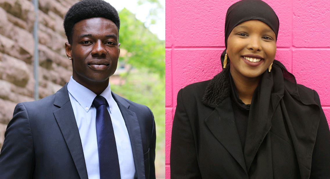 Congratulations to #UofT's Jeffrey Fasegha and Ikran Jama! They've each received a Rhodes Scholarship to study at the University of Oxford next year:
