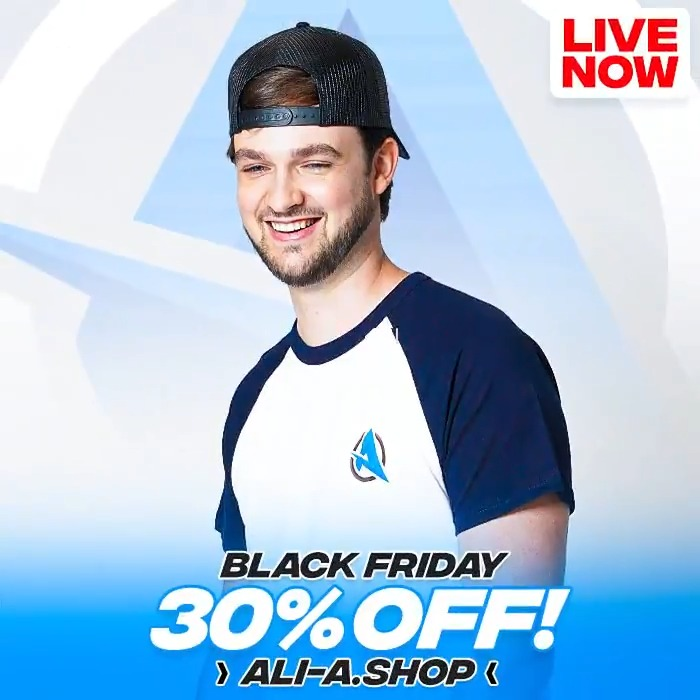 🚨 Black Friday sale is now LIVE! 🚨 👕 Head over to: Ali-A.shop *30% off EVERYTHING* this weekend! 🥳