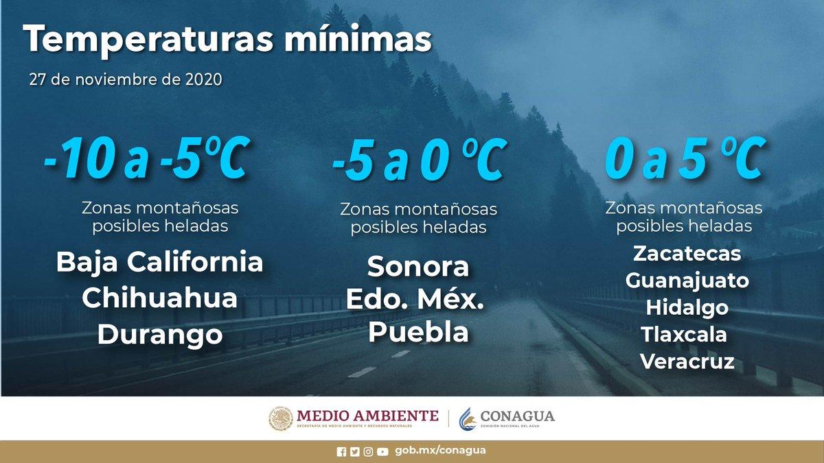 Tuvimos un amanecer este viernes con bajas #Temperaturas en #México. Habrá ambiente frío durante la mañana en diversos estados del país https://t.co/DieU5nbw9v