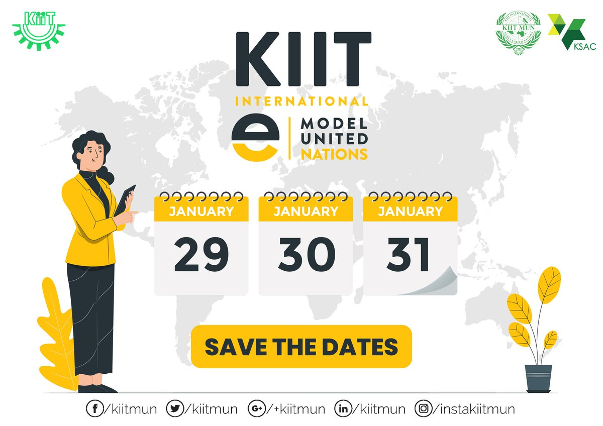 """""""The secret to getting ahead is getting started."""" Its your time to shine! Brace yourselves for a experience at the comfort of your home. It is time for you to be a part of the largest MUN conference in Asia, KIIT International e - Model United Nations from 29th to 31st Jan 2021. https://t.co/ZzfnVfCz1X"""