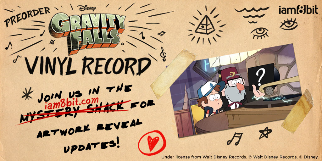 iam8bit's Black Friday mystery vinyl is.... Gravity Falls!   We're taking a cue from Grunkle Stan and keeping this 2xLP a wee bit mysterious.   Pre-order now to join us on this journey into the unknown with creator @_AlexHirsch and composer @bradbreeck!