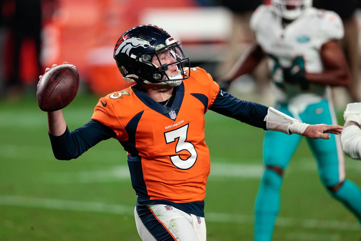 #Broncos QB Drew Lock bounced back well after an early INT last week.