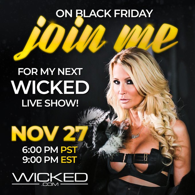 1 pic. BIG DAY TODAY!  see me LIVE on @WickedPictures at 6pm PST   https://t.co/wtoJY8Dvo0  AND take