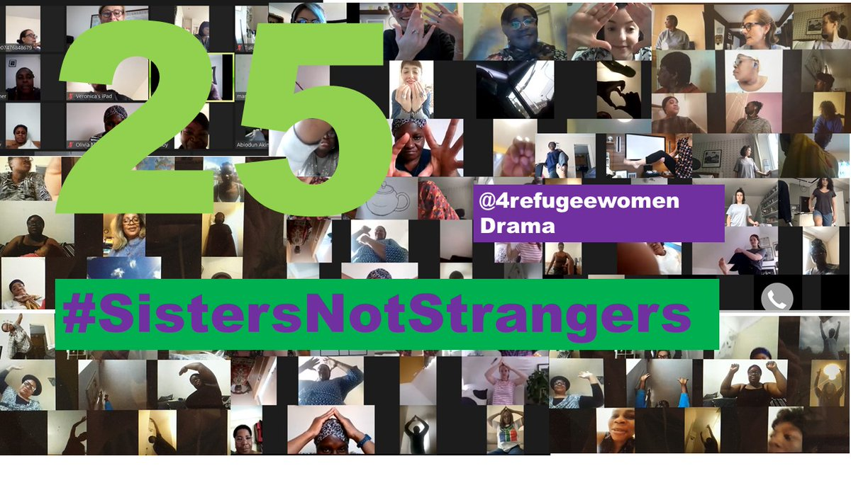 Today was our 25th drama workshop on Zoom!    Despite the pandemic, we are still together. Meeting for drama on Fridays is our connection and our sunshine.    #SistersNotStrangers