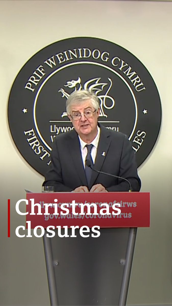 Pubs, restaurants and bars will face tighter restrictions in the run up to Christmas and other businesses will close, first minister says  Read more:
