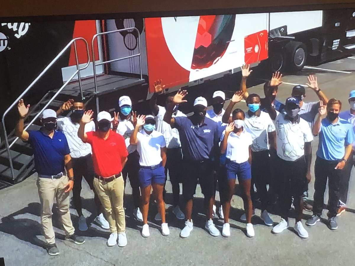"""Steph Curry discussing his work restarting the golf program @HowardU """"You know how amazing Howard University is""""   #TheMatch"""
