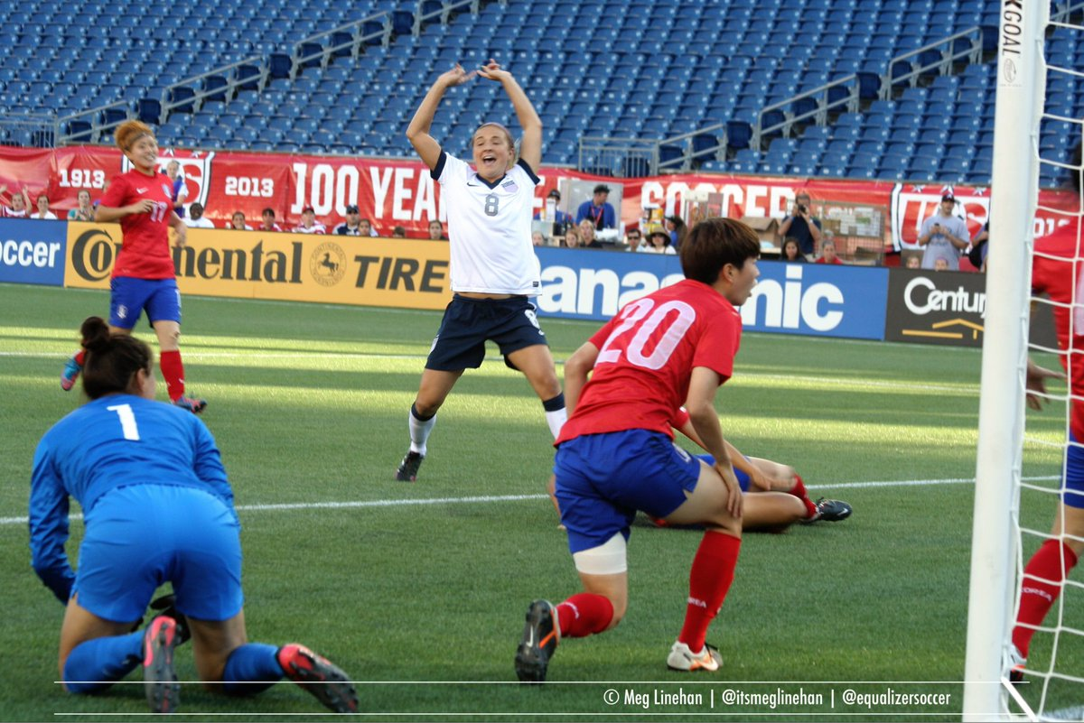 Brought this goal up to Vlatko in the postgame zoom, but here was my view of @KristieMewie scoring for the #USWNT in 2013 — in Massachusetts!   📸 for @EqualizerSoccer