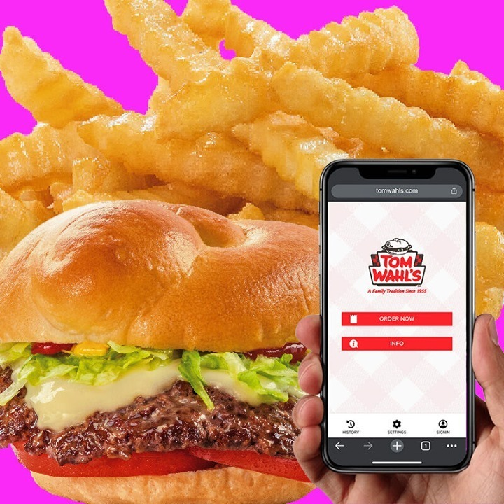𝗢𝗡𝗟𝗜𝗡𝗘 𝗢𝗥𝗗𝗘𝗥𝗜𝗡𝗚 𝗜𝗦 𝗛𝗘𝗥𝗘! Skip the line and order all of your favorite Tom Wahl's burgers, sides & plates at:  ⠀ #tomwahls #rocburgers #food #rocfoodies #newyorkfoodies #roceats #upstateny #westernny