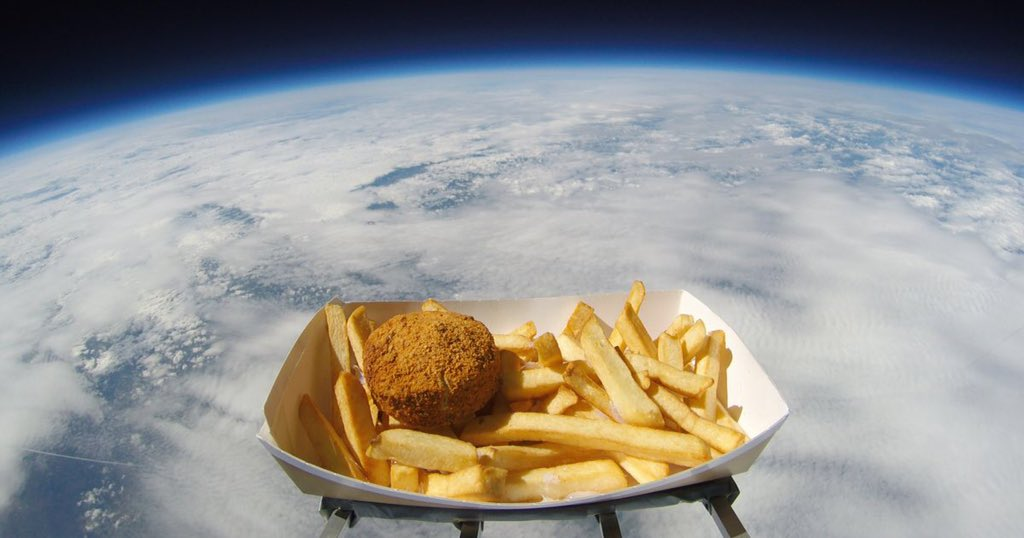 #Eastleigh #FishAndChipShop #news  #bishopstoke  To @eastleighmayor @NASA #NASA sent the famous #hull #sage n #potato #pattie into #space @BorisJohnson #support this #food in the #south  #mayor have #competition #trial #cookoff for our chippy to make and sell hull pattie 1st time