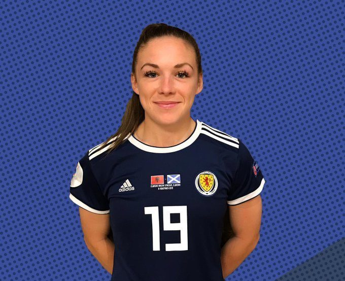 Kirsty Hanson created 3 chances for Scotland Women before coming off with an injury vs Portugal Women. Most chances created by any player on the pitch.   #PORSCO #SWNT #MUWomen