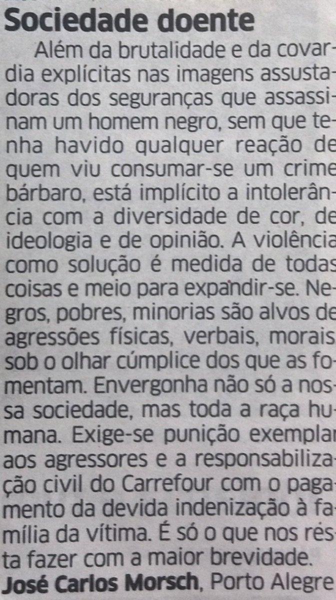CORREIO DO POVO, Porto Alegre, hoje, pág. 2, Do leitor: https://t.co/5nK6RVkWe0
