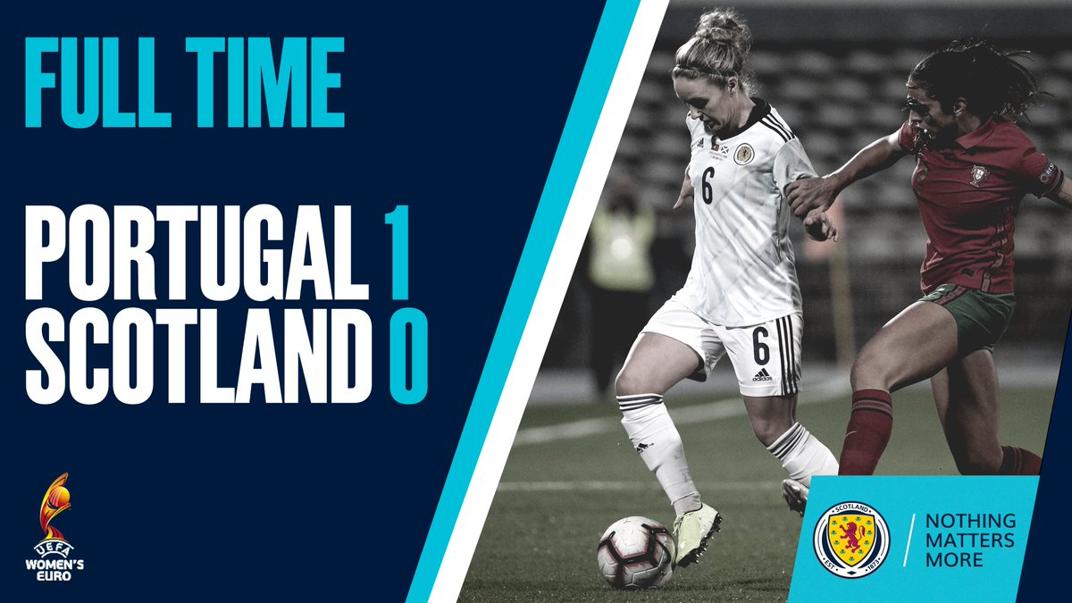 FULL TIME | Portugal 1-0 Scotland.  Ana Borges' second-half strike means it is defeat in Lisbon.  #PORSCO | #SWNT