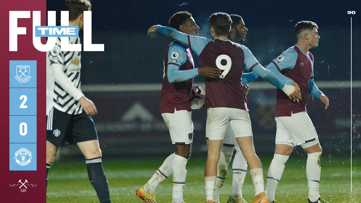 Full-time at Rush Green!  Our U23s are off the mark in #PL2 this season thanks to Afolayan's well-taken double! Get in! 💪  #COYI