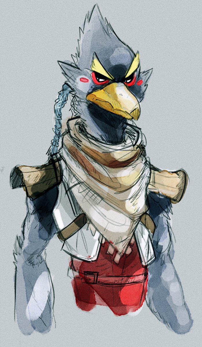 Quick sketch thing for today. I really nailed my own style for Falco so Id love to do the same for this guy here, but man, his head does NOT make it easy #botw #revali