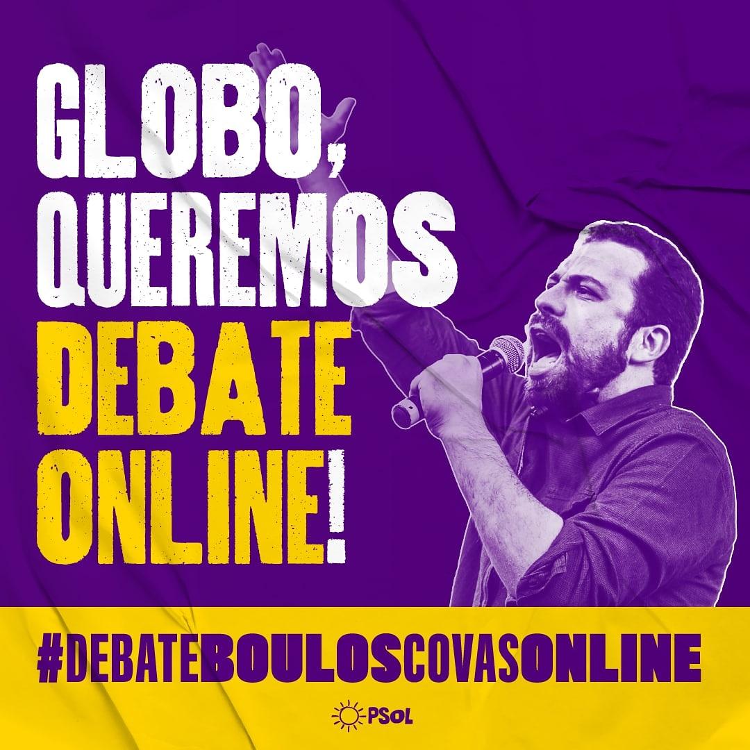 Se Covas e Boulos já concordaram, por que a Globo não realiza o debate? #DebateBoulosCovasOnline