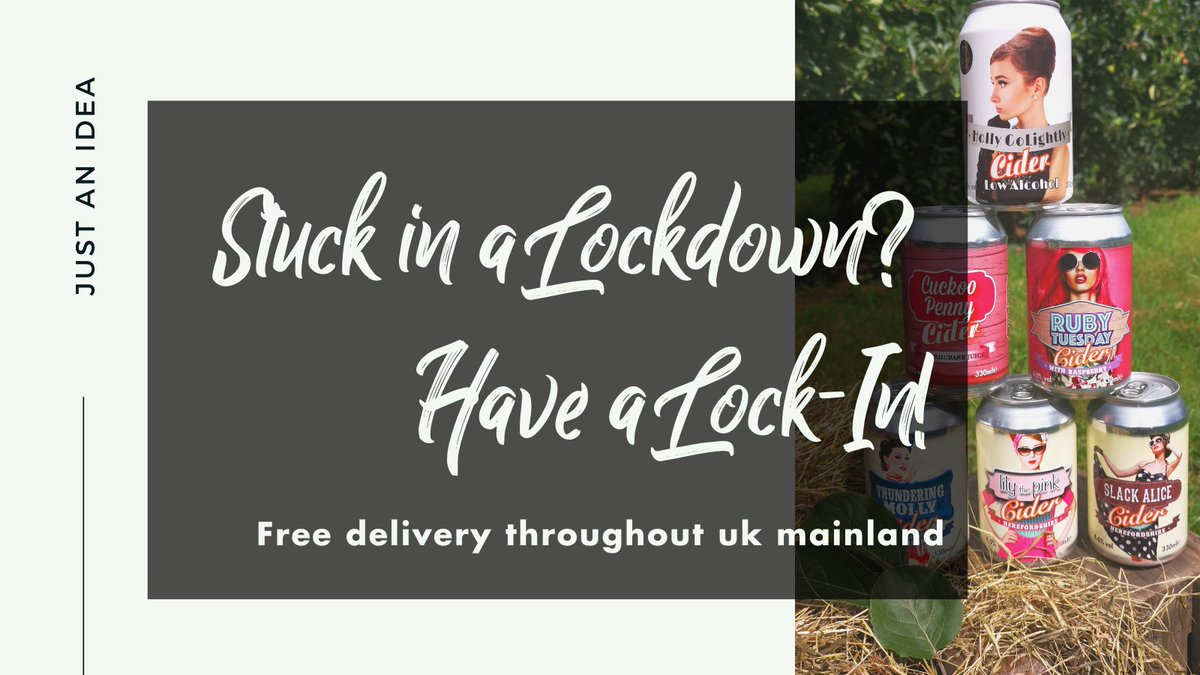 Turn your #Lockdown into a #LockIn 😎  FREE UK delivery on all orders over £29.99   👉  #Herefordshire #Craft #Cider