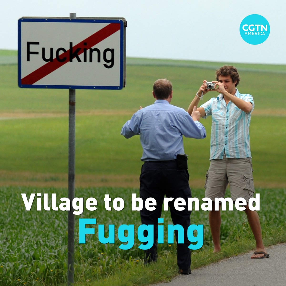 "An Austrian village near the German boarder finally changed its name after years of mockery. The council of Tarsdorf voted to change village's name from ""Fucking"" to ""Fugging"", effective on January 1, 2021."