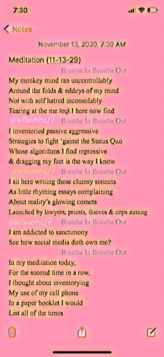 #meditation  #dawnsonnet #breatheinbreatheout #hopesonnet #memorysonnet #FaithSonnet #poem #nofaith #sonnet #MeditationSonnet #FearSonnet #judgementsonnet #humanity #gratitude  #grateful #truth #anonymity  #memories #optimism https://t.co/usIW12bg0u