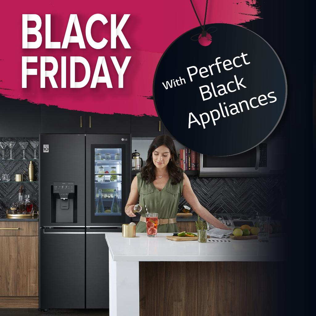 LG's Premium black appliances for Perfect Black Friday offers! https://t.co/IRD8Z7XbJC