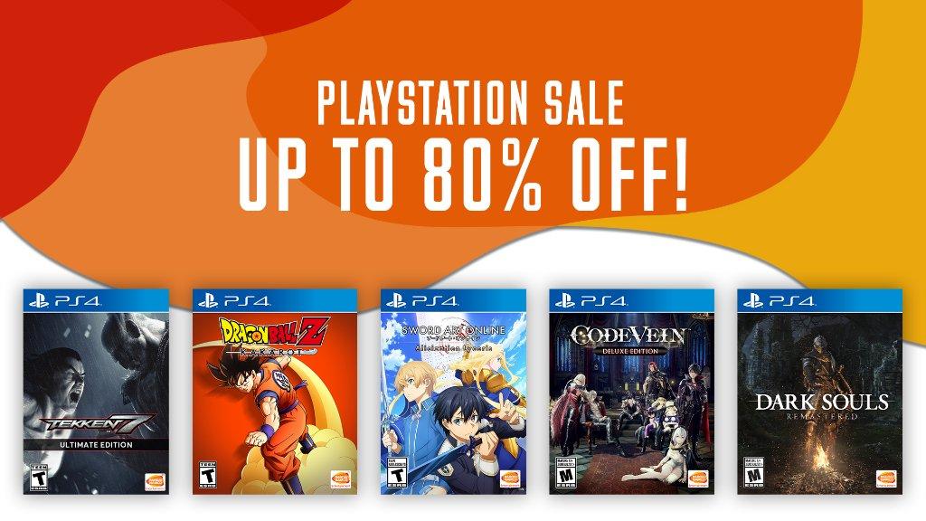 Choose your games & save big during the PlayStation Sale! #BlackFriday   DARK SOULS ➡️  SAO Alicization Lycoris ➡️  CODE VEIN ➡️  DBZ: KAKAROT ➡️  TEKKEN 7 ➡️