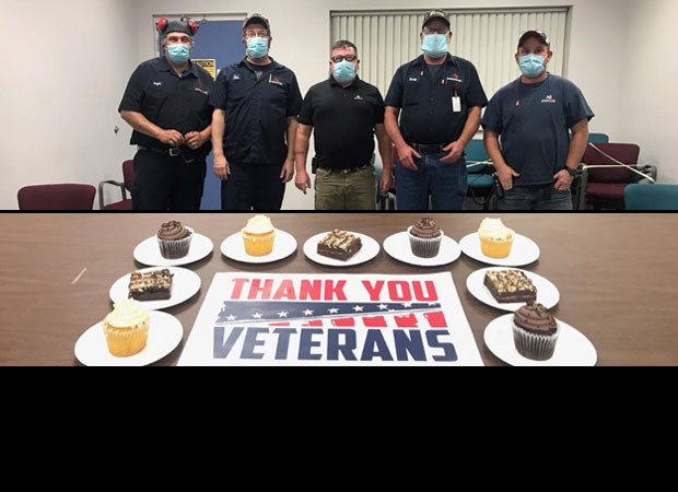 In recognition of #VeteransDay, the Howell, MI facility treated the site's veterans to a celebration and appreciation meeting to thank them for their service. The site is honored to have service members and veterans representing the #Marines, #Army and #Navy.