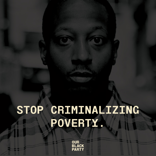Cash bail is one of the many ways that Black people are further criminalized for being poor and pushed deeper into poverty. The system drains from people who already have few financial resources BECAUSE of the impacts of systemic racism. It is unfair and criminal itself.