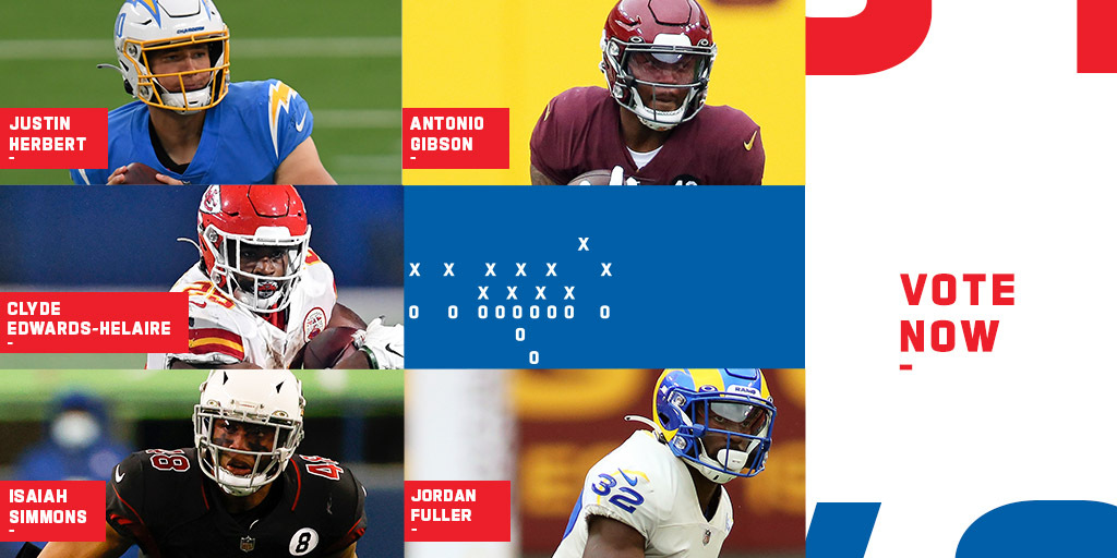 VOTE for the @pepsi Rookie of the Week: