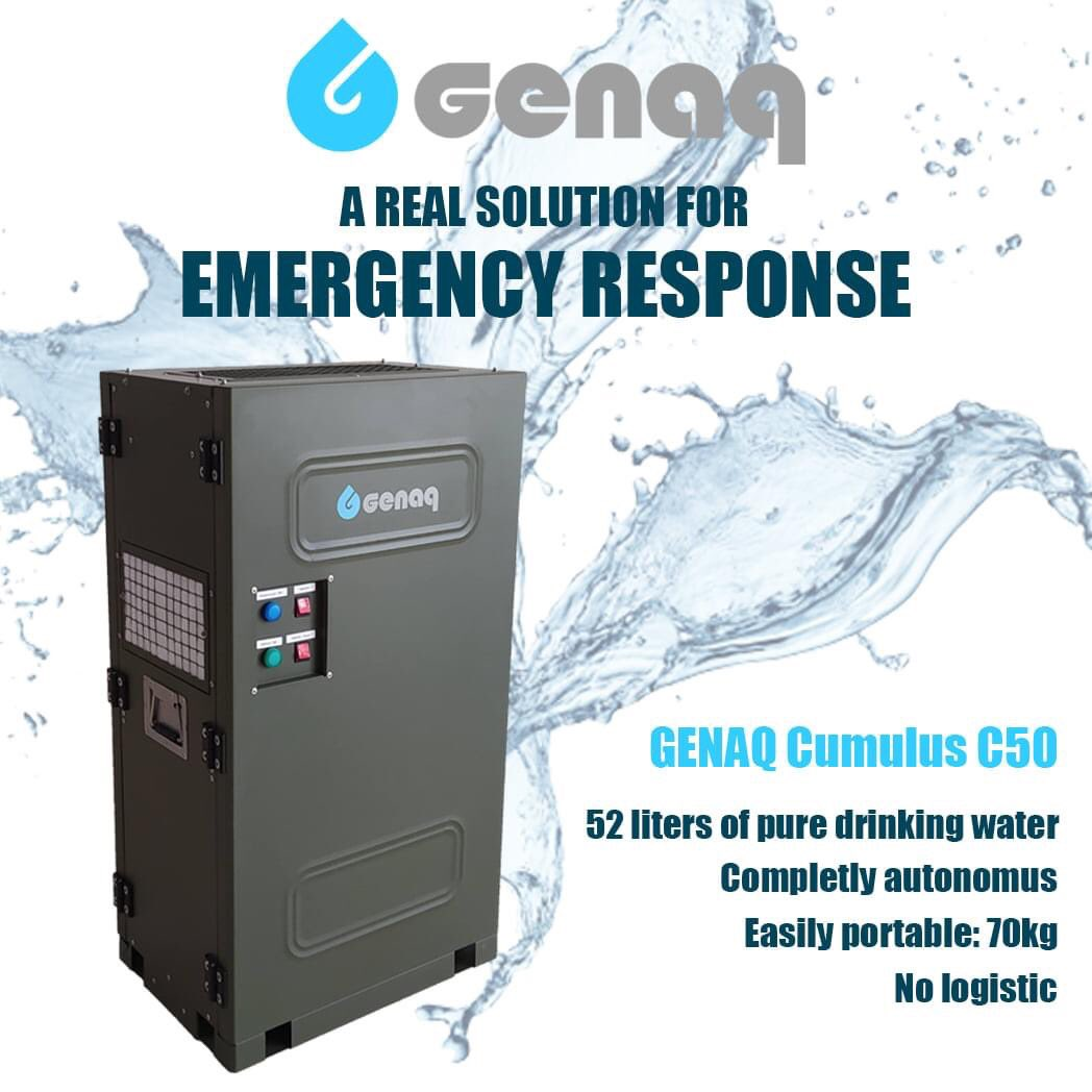 GENAQ-IEA💦💧  Do you know the applications of our #GENAQ 𝐂𝐮𝐦𝐮𝐥𝐮𝐬 𝐂𝟓𝟎? It is ideal for:📌#Defense: #RefugeeCamps, #MobileHospitals, #MilitaryCamps, #HumanitarianCamps, #RemoteBases, #TemporaryMilitaryCamps,📌#DisasterRelief: #Fires, #Earthquakes, #Floods, #Sinaproc https://t.co/Qndh1SXGHw