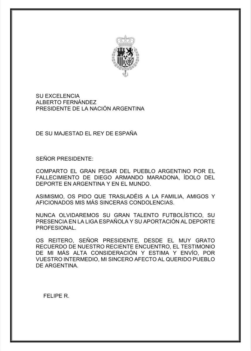 RT @alferdez: Mensaje del Rey de España, Felipe VI. https://t.co/vEI1VaWYa6
