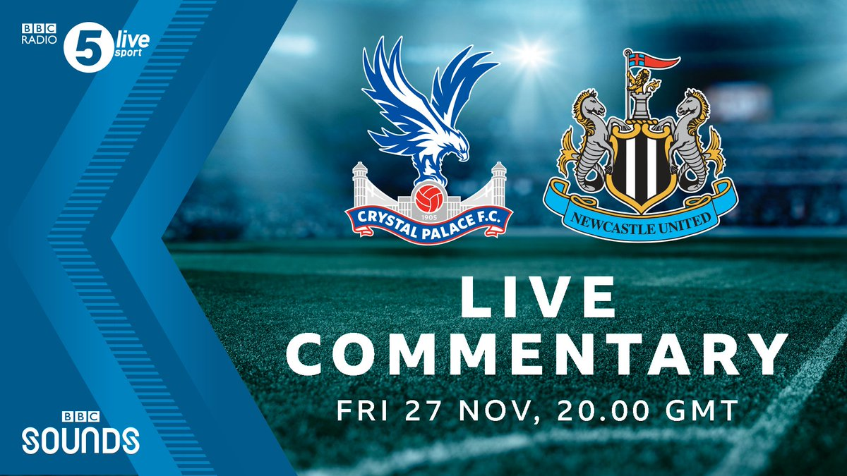 🦅 Crystal Palace 🆚 Newcastle ⚫️⚪️ 🎙️ Weve got live commentary of #CRYNEW 🔜 Join @DFletcherSport, @jjenas8, @schwarzer_mark and @ConorMcNamaraIE from 7pm Listen to it on @BBCSounds ⚽️📻: bbc.co.uk/5live #bbcfootball