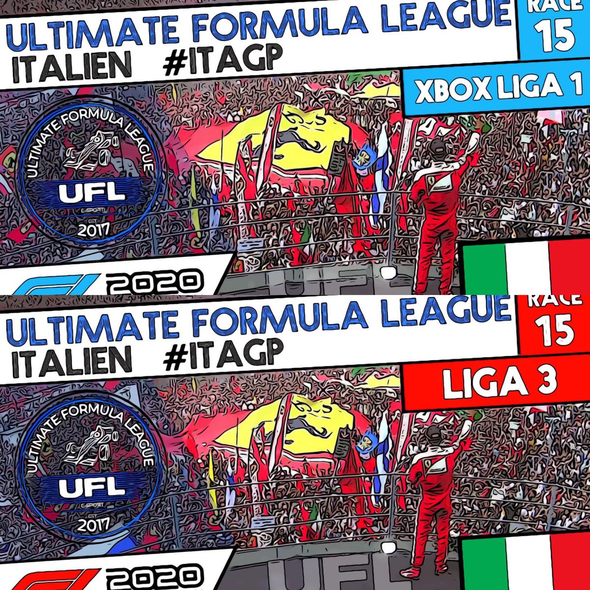 #Raceday  Xbox Liga 1️⃣ 20:10 #twitch / Liga 3️⃣ 20:10 #livestream: Ultimate Formula League  TV #YouTube #F1 #Gaming #Ps4 #xbox #racing #f12020game #f12020 #Formula1 #eSports #f12020ps4 #f12020xbox #onlineracing #britishgp 🇬🇧 https://t.co/qDweQPou5Z