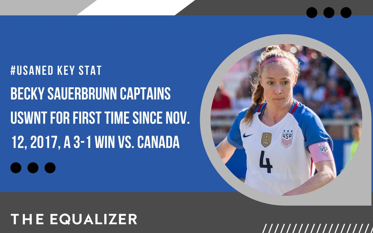 Captain Becky Sauerbrunn is leading the way for the #USWNT. ⚽  #NEDUSA