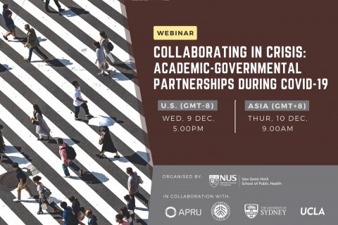 """12/9   Join @ucla, @Sydney_Uni, @NUSingapore and @PKU1898 for the @APRU1997 webinar, """"Collaborating in Crisis: Academic-Governmental Partnerships During #COVID19."""" #UCLAFSPH's Prof. Alina Dorian will serve as a featured speaker.  Register today ➨"""