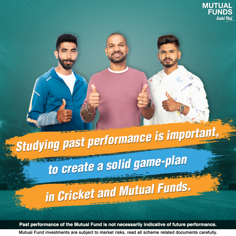 In Cricket, understanding the opponent is key to building the perfect game-plan for a match-winning innings. Similarly, studying the past performance of a Mutual Fund scheme can help you select one that matches your financial needs and goals. #INDvsAUS #MutualFundsSahiHai