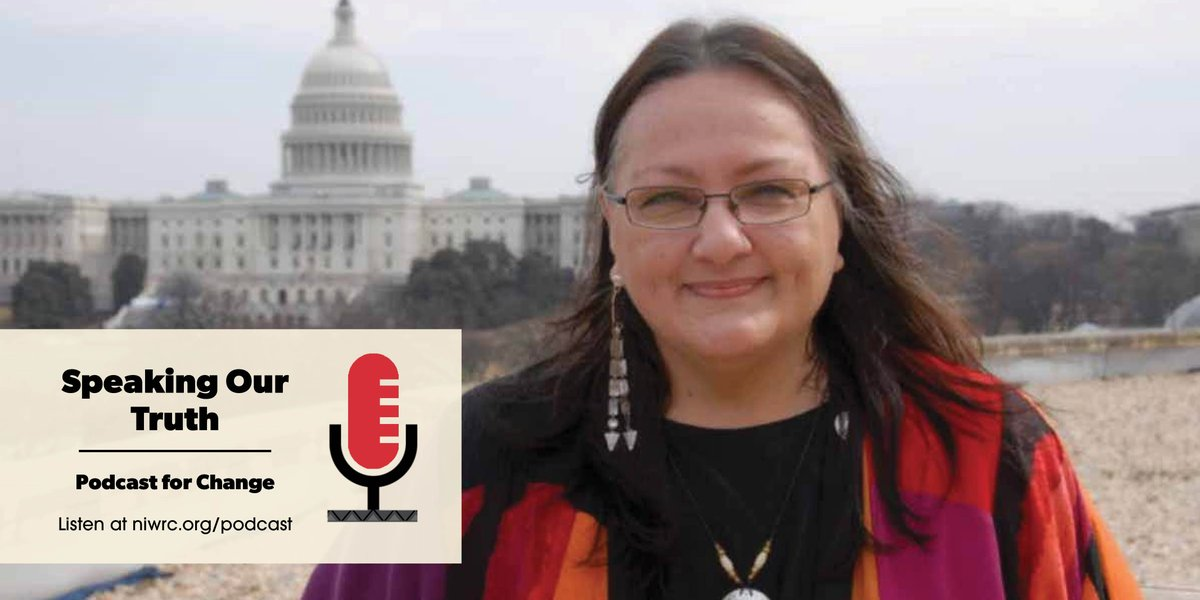 🎧 Listen now to Episode 14 of NIWRCs Speaking Our Truth podcast, where we talk with #Indigenousrights activist Suzan Shown Harjo (Cheyenne & Hodulgee Muscogee) about her work in landmark laws and calls to protect tribal lands + end #Nativemascots. bit.ly/35WDrp4