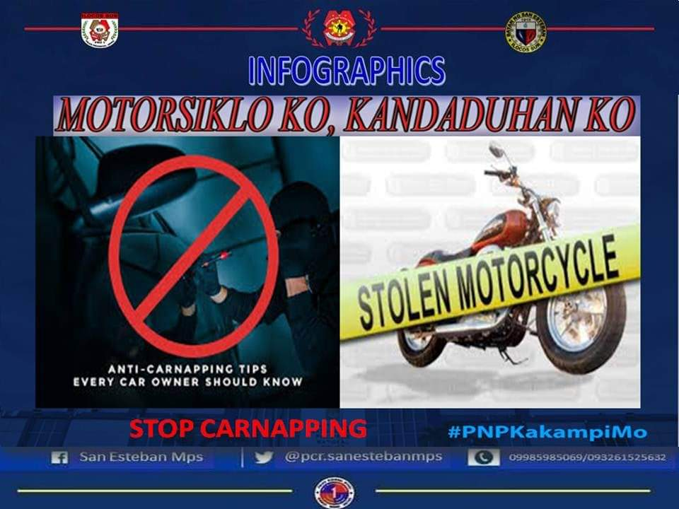 INFOGRAPHICS on MOTORNAPPING (Focus Crime) Motornapping Tips  #PNPCHIEFPGENDEBOLDSINAS #TeamPNP #WilsonDoromalPNPDiary #PulisKoyResponsableRespetadoAtDisiplinado #ToServeandProtect #PulisAtKomunidad #sureilocossur #tripleimpactstrategy