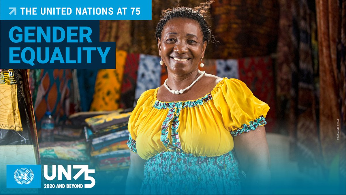 The UN champions #GenderEquality so every woman and girl can exercise her human rights and live up to her full potential.  Equality, dignity, peace & all the ideals of the UN Charter, agreed 75 years ago this week, are now more key than ever.   #UN75 #orangetheworld
